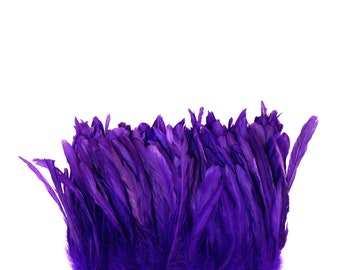 """REGAL 8-10"""" Bulk Bleach-Dyed Rooster Coque Tail Feathers Strung by the 1/4lb For Cultural Arts, Carnival & Costume Design ZUCKER®"""