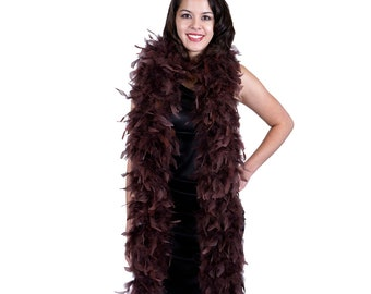 120 Gram Chandelle Feather Boa Brown 2 Yards For Party Favors, Kids Craft & Dress Up, Dancing, Wedding, Halloween, Costume ZUCKER®