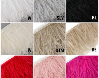 Bulk Ostrich Feather Fringe - FOO5 - 5 Yards ZUCKER™