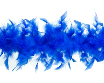 40 Gram Chandelle Feather Boa ROYAL BLUE 2 Yards For Party Favors, Kids Crafting & Dress Up, Dancing, Wedding, Halloween, Costume ZUCKER®