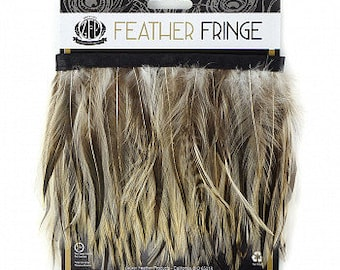 NATURAL 1YD Badger Hackle Feather Fringe - DIY Art Crafts, Carnival, Cosplay, Costume, Millinery and Fashion Design ZUCKER®
