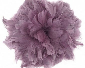"Goose Nagorie Feathers 5-6"" Amethyst, Purple Strung Goose Feathers, Small Purple Goose Feathers Bulk - 1 Yard ZUCKER®"