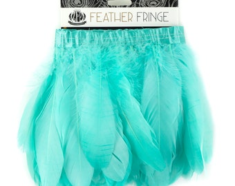 MINT 1 Yard Parried Goose Pallet Feather Fringe - For DIY Art Crafts, Carnival Costume, Cosplay, Millinery & Fashion Design ZUCKER®