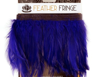 REGAL 1YD Dyed Hackle Feather Fringe - Feather Fringe for DIY Arts and Crafts, Costume, Fashion & Millinery Design  ZUCKER®