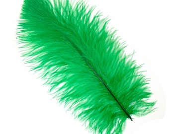 """KELLY Bulk 13-16"""" Ostrich Feathers 1/4LB - For Feather Centerpieces,Party Decor,Millinery,Carnival,Fashion and Costume Design ZUCKER®"""