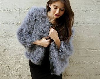 Marabou Feather Jacket - G82 (MED-LG)  ZUCKER® Feather Place Original Designs