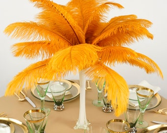 """Ostrich Feathers 13-16"""" MERIGOLD - For Feather Centerpieces, Party Decor, Millinery, Carnival, Fashion & Costume ZUCKER®"""