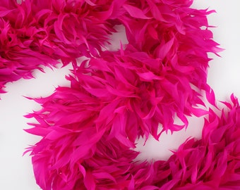 Fancy Feather Boa, Pink Goose Feather Boa 2 Yards For Party Favors, Kids Craft & Dress Up, Dancing, Wedding, Halloween, Costume ZUCKER®