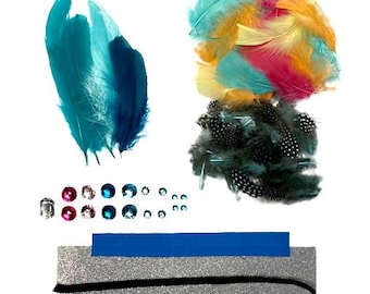 SEAGREEN Feather Crown Kit - For Arts, Kids Craft, DIY, Costume, Millinery and Fashion Design ZUCKER®