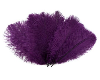 """Ostrich Feathers 9-12"""" PURPLE, Ostrich Drabs, Centerpiece Floral Supplies, Carnival & Costume Feathers ZUCKER®Dyed and Sanitized USA"""