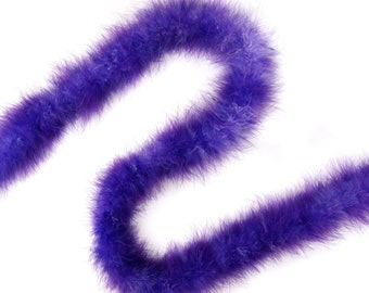 Violet & Regal Tipped Marabou Feather Boa 20 Grams 2 Yards For DIY Art Crafts Carnival Fashion Halloween Costume Design Home Decor ZUCKER®