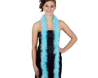 LTTURQUOISE Marabou Feather Boas 6FT - For DIY Art and Crafts, Carnival, Fashion, Halloween Costume Design, Home Decor and more ZUCKER®