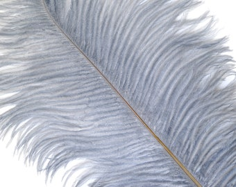 """SILVER 25 Ostrich Feathers 17""""- 20"""" - 25pc/pkg - Perfect for Feather Centerpieces,Party Decor,Millinery & Carnival Costumes ZUCKER®"""