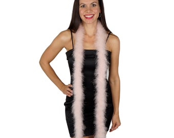 CHAMPAGNE Marabou Feather Boas 6FT - For DIY Art and Crafts, Carnival, Fashion, Halloween Costume Design, Home Decor and more ZUCKER®