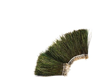 "Peacock Flue, 4-6"" NATURAL Iridescent Green Peacock Flue, Short Peacock Herl Feathers ZUCKER®"
