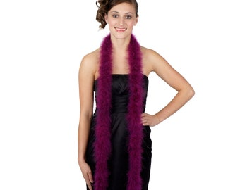 PURPLE Marabou Feather Boas 6FT - For DIY Art and Crafts, Carnival, Fashion, Halloween Costume Design, Home Decor and more ZUCKER®