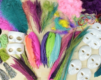 Large Feather Craft Kit BRIGHT tone Feathers for Adults and Kids Crafting Projects - Master Crafter Assortment Kit ZUCKER®