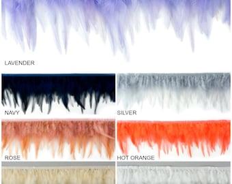 """1 Yard Dyed Saddle Feather Fringe approx 5-6"""" - Fringe for Costume, Fashion & Millinery Design  ZUCKER®"""