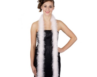 LTPINK Marabou Feather Boas 6FT - For DIY Art and Crafts, Carnival, Fashion, Halloween Costume Design, Home Decor and more ZUCKER®