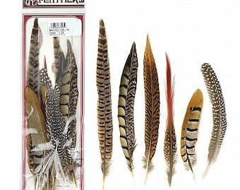 "6-12"" Assortment of Natural Feathers - 12 Piece Festival Mix BPH-Festival--N ZUCKER®"