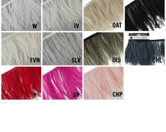 1 YARD Ostrich Feather Fringe - For Bridal, Carnival Costume, Cosplay, Millinery, Fashion Design and Decor  ZUCKER®