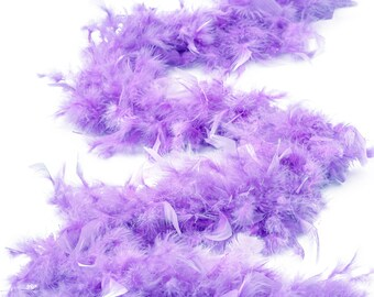 60 Gram Chandelle Feather Boa, Lavender  2 Yards For Party Favors, Kids Craft & Dress Up, Dancing, Wedding, Halloween, Costume ZUCKER®