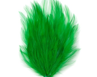 KELLY 12 Dyed Hackle Pads - For Feather Crafts, Fascinators, Millinery, Fashion, Costume and Carnival Design ZUCKER®