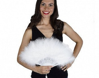 Small Marabou Feather Fans - Photobooth Accessories, Perfect for Great Gatsby, Roaring 20's Theme Costume Parties & Halloween Events ZUCKER™