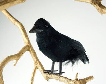 Decorative Black Feather Crow Bird - Black Bird, Raven, Halloween Decor  ZUCKER™