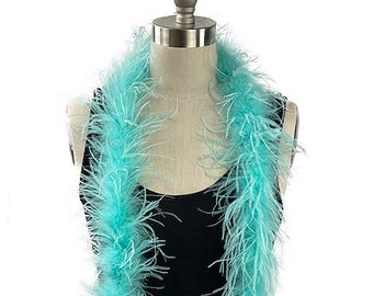 Ostrich Feather Boa, Mint 2 Ply Value Ostrich Boa Halloween Costume, Dance and Fashion Design ZUCKER® Dyed & Sanitized in the USA