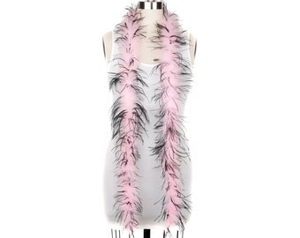 1 Ply Ostrich Feather Boa Economy PINK & BLACK 2 Yards -Fashion, Accessory, Halloween, Costume Design, Dress Up, Dancing, Stage  ZUCKER®