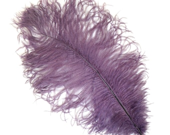 """AMETHYST Bulk 13-16"""" Ostrich Feathers 1/4LB For Feather Centerpieces,Party Decor,Millinery,Carnival,Fashion and Costume Design ZUCKER®"""