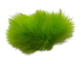 LIME Strung Marabou Turkey Feathers - For Fly Fishing, Fly Tying, D.I.Y Arts and Crafts ZUCKER®