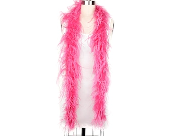 RASPBERRY 2 Ply Ostrich Feather Boas -  Ostrich Feather Boa for Fashion, Costume Design and Special Events - 2 Yards (6 Feet) ea ZUCKER®