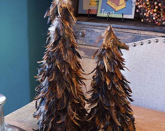 "Decorative Feather Tree 18"" TRSXHB18--N Fall Rustic Theme Wedding or Thanksgiving Decor ZUCKER™"