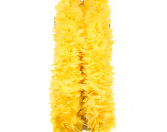 YELLOW Turkey Feather Boa - Large Economy Feather Boa for Carnival, Halloween,Costume Party, Burlesque & Showgirl Costume ZUCKER®
