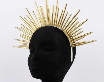 Gold Halo Crown, Feather Quill Crown, Starburst Quill Crown, Halo Headband ZUCKER® Feather Place Originals
