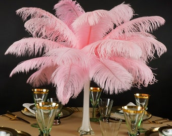 "Ostrich Feathers 13-16"" CANDY PINK - For Feather Centerpieces, Party Decor, Millinery, Carnival, Fashion & Costume ZUCKER®"