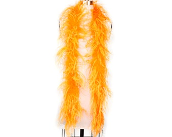 MANGO 2 Ply Ostrich Feather Boas -  Ostrich Feather Boa for Fashion, Costume Design and Special Events - 2 Yards (6 Feet) ea ZUCKER®