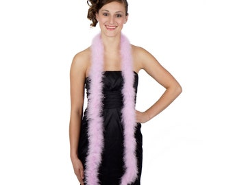 ORCHID Marabou Feather Boas 6FT - For DIY Art and Crafts, Carnival, Fashion, Halloween Costume Design, Home Decor and more ZUCKER®