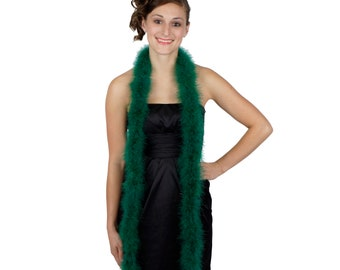 HUNTER Marabou Feather Boas 6FT - For DIY Art and Crafts, Carnival, Fashion, Halloween Costume Design, Home Decor and more ZUCKER®