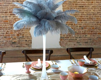 """Ostrich Feathers 13-16"""" SILVER - For Feather Centerpieces, Party Decor, Millinery, Carnival, Fashion & Costume ZUCKER®"""
