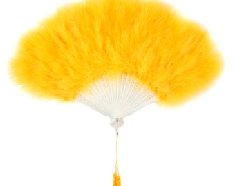 GOLD Marabou Feather Fans - Photobooth Accessories, Perfect for Great Gatsby, Roaring 20's Theme Costume Parties & Halloween Events ZUCKER™