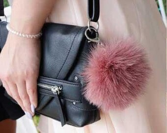 Marabou Feather Pom Pom Key Chains ZUCKER®