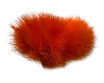 ORANGE Strung Marabou Turkey Feathers - For Fly Fishing, Fly Tying, D.I.Y Arts and Crafts ZUCKER®