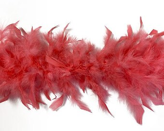 40 Gram Chandelle Feather Boa CORAL 2 Yards For Party Favors, Kids Crafting & Dress Up, Dancing, Wedding, Halloween, Costume ZUCKER®