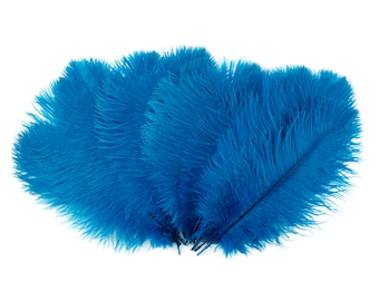 "Ostrich Feathers 13-16"" TURQUOISE 12 PIECES For Feather Centerpieces, Party Decor, Millinery, Carnival, Fashion & Costume ZUCKER®"