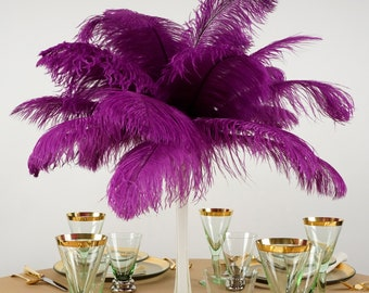 """Ostrich Feathers 13-16"""" VERY BERRY Fuchsia - For Feather Centerpieces, Party Decor, Millinery, Carnival, Fashion & Costume ZUCKER®"""