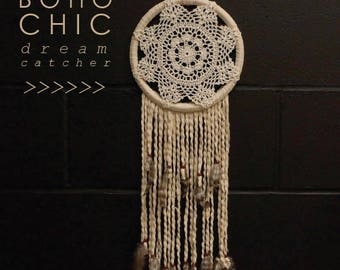Boho Chic Dreamcatcher - Natural - For Teens Bedroom and Dorm Decor, Great Housewarming Gift ZUCKER®