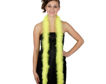 FLYELLOW Marabou Feather Boas 6FT - For DIY Art and Crafts, Carnival, Fashion, Halloween Costume Design, Home Decor and more ZUCKER®